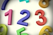 11725456 - kids multicolored numbers representing numeracy and education