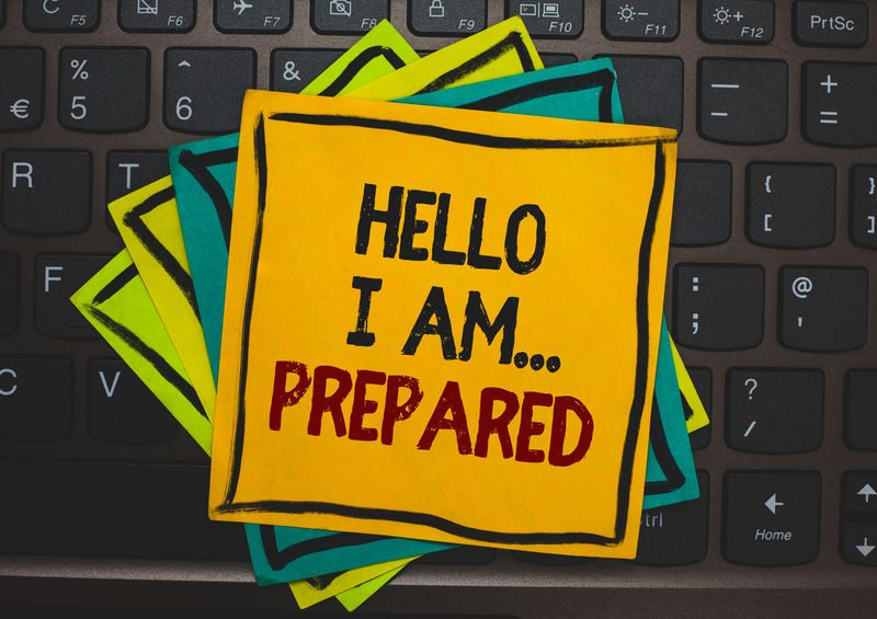 Word writing text Hello I Am... Prepared. Business concept for introduce yourself to someone as you are ready Multiple colour sticky border cards computer keyboard text send message