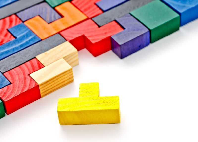 14012689 - colorful wooden puzzle
