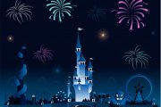 Amusement park fireworks display pyrotechnia cartoon