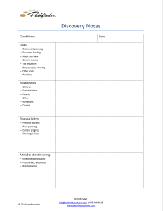 Discovery Notes Form