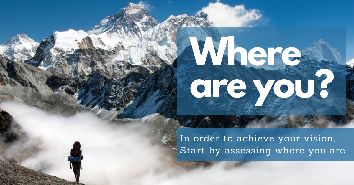 In order to achieve your vision, start by assessing where you are